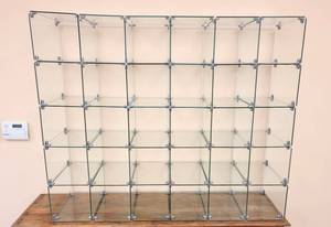 30 Connected Glass Cubes Display