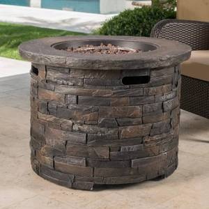 Blaeberry Outdoor Stone Fire Pit by Christopher Knight Home- Retail:$845.67