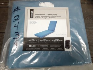 Cushion cover for chaise lounge - blue