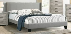 Eastern King Bed Frame with Headboard, Grey Retail:$293.49