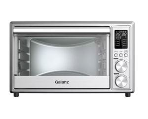 Galanz 0.9 cu ft 6-Slice Digital Toaster Oven with Air Fry - Stainless Steel