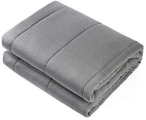 "Adult Weighted Blanket Queen Size(15lbs 60""x80"") Heavy Blanket with Premium Glass Beads,"