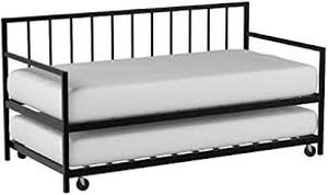 twin daybed with trundle multi function black