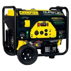 Champion 76533 3800-Watt Dual Fuel RV Ready Portable Generator with Electric Start Retail: $2,186.08