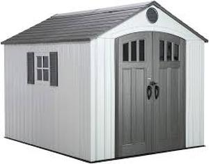 LIFETIME PRODUCTS Gable Storage Shed (Common: 8-ft x 10-ft; Interior Dimensions: 7.5-ft x 9.5-ft) 2 boxes