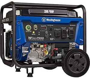 Westinghouse WGen7500DF Dual Fuel Portable Generator - 7500 Rated Watts & 9500 Peak Watts - Gas or Propane Powered - CARB Compliant Retail: $838.67