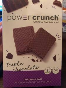 Power Crunch Pro Protein Energy Bars, 20 Protein, Triple Chocolate
