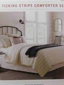 Hearth&Hand with magnolia King ticking stripe comforter set