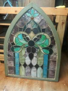 Framed stained glass