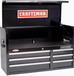 CRAFTSMAN 2000 Series 6-Drawer Steel Tool Chest (Black) Retail $289.00