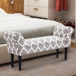 HomCom Small Linen Upholstered Ottoman Bench Retail:$89.99
