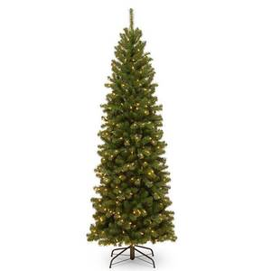6.5ft Slim Spruce Tree w/ Clear Lights