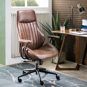Ergonomic Suede Office Chair