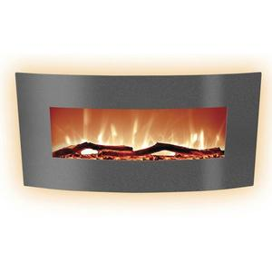 Curved 48in Wall Mount Electric Fireplace