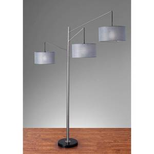 Adesso Wellington Satin Steel Arc Lamp