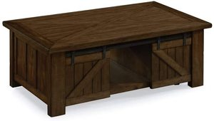 Fraser Farmhouse Rustic Pine Lift Top Coffee Table