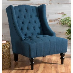 Toddman Fabric High Back Club Chair by Christopher Knight Home