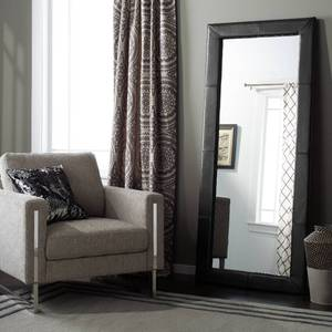 Abbyson Delano Black Leather Floor Mirror Retail:$279.99