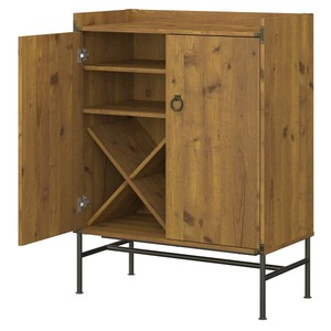 Ironworks Bar Cabinet from kathy ireland Home by Bush Furniture Retail:$356.99