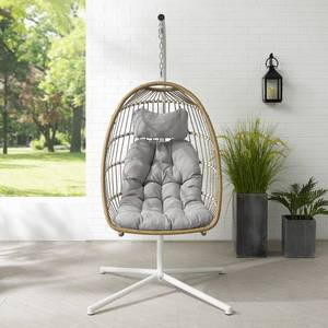 Havenside Home Outdoor Swing Egg Chair with Stand Retail:$467.99