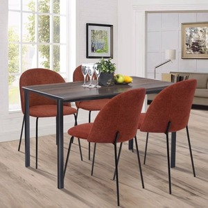 Carson Carrington Modern Fabric Dining Chairs (Set of 2)