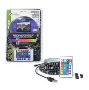 7-ft Black, Color Changing Usb Led Tape Light For Tv By Good Earth Lighting