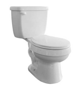Aquasource Colby standard height round bowl toilet