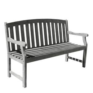 Vifah Renaissance Outdoor Hand-scraped Bench - Grey