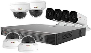 Revo America Ultra 16 Ch. IP NVR Video Surveillance System, 4 x 4MP IR Bullet Cameras & 4 x 4MP Vandal Resistant IR Mini Dome Cameras - Remote Access via Smart Phone, Tablet, PC & MAC