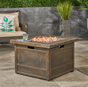 "Landman outdoor Fire Pit by 32"" Gas-Burning Lightweight Concrete by Christopher Knight Home- Retail:$579.99"