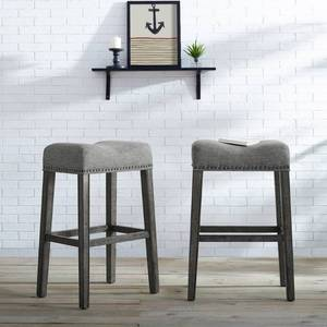 The Gray Barn Overlook Upholstered Backless Saddle Seat Bar Stool (Set of 2) - Retail:$119.49