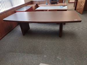 Large Wooden Conference Table -- Approx. 96in L x 43in W x 28in H
