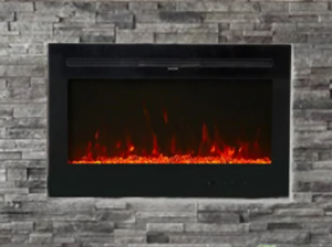 "Kinbor 36"" Electric Fireplace in-Wall Recessed and Wall Mounted, 750/1500w Fireplace Heater with Remote Control, 12 Flame Color- Retail:$542.38"