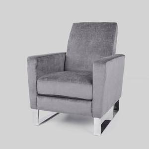 Christopher Knight Home Brightwood Modern Fabric Push Back High Leg Recliner with Stainless Steel Legs- Retail:$335.99