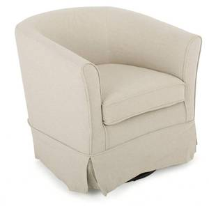 Cecilia Beige Fabric Swivel Club Chair by Christopher Knight Home- Retail:$188.49