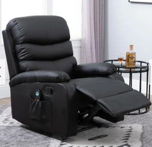 Copper Grove Ramsey Heated Massaging Faux Leather Recliner Retail:$385.49