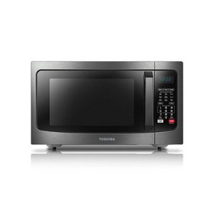 Toshiba Smart Sensor LED Light 1.5 Ft Stainless Convection Microwave Oven, Black ( Not Inspected )