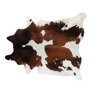 Pergamino Chocolate and White Cowhide Rug- Retail:$215.49