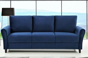 William Street Sofa, Blue- Retail:$488.49