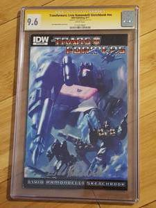Signed Transformers: Livio Ramondelli Sketchbook #nn. Graded 9.6 by Certified Guaranty Company (CGC)