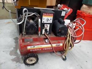 Sanborn 1-1/2 HP Air Compressor - Untested, 20A Outlet Not Available