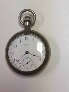 Century USA Pocket Watch - Engraved Train