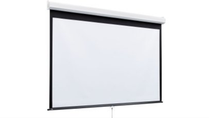 New 10' x 10' wall mount movie screen great for outdoor theaters hang from your deck on the side of your house or in your movie room retails for $595 new in box