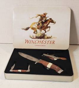 Winchester Limited Edition 3 Knife Set in Presentation Box ~ looks like they haven't been removed