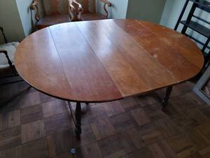 "Drop Leaf Dining Table | 29"" T x 80"" W x 54"" D (Fully Extended)"