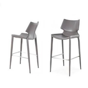 Modrest Hayes Modern Grey Eco-Leather Bar Stool (Set of 2) Retail $800