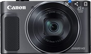 Canon PowerShot SX620 Digital Camera w/25x Optical Zoom - Wi-Fi & NFC Enabled (Black) - Memory Card Bundle- Retail:$238.49