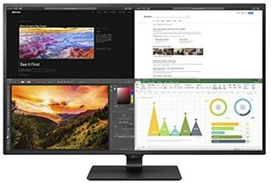 LG 43UN700-B 43 Inch Class UHD (3840 X 2160) IPS Display with USB Type-C and HDR10 with 4 HDMI inputs, Black Retail: $699.99