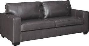Signature Design by Ashley Morels Queen Leather Sofa Sleeper