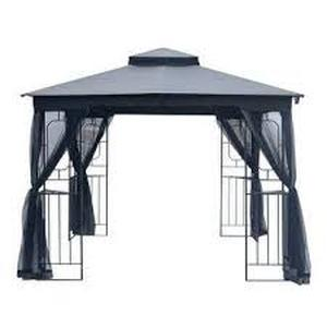 Double Roof Gazebo Canopy w/ Mosquito Netting